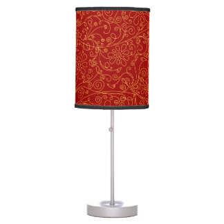 Scribbly Floral Design Table Lamp