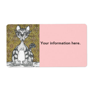 Scribby Cat 4 Shipping Label