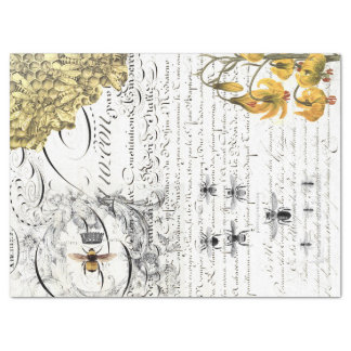 Script Bee Decoupage Tissue Paper