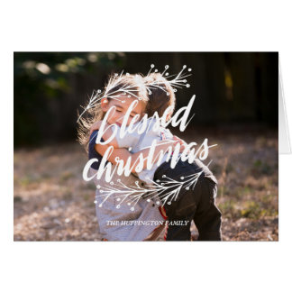 Script blessed christmas Greeting Card