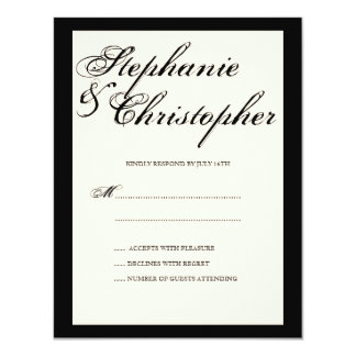 Script Elegance Wedding RSVP Response Card