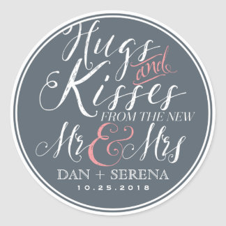 Script Font New Mr and Mrs Wedding Favour Sticker