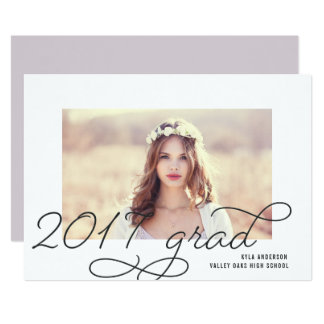 Script Frame | 2017 Photo Graduation Party Invite
