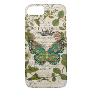 script french country botanical monarch butterfly Case-Mate iPhone case