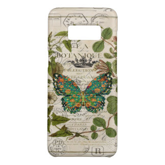script french country botanical monarch butterfly Case-Mate samsung galaxy s8 case