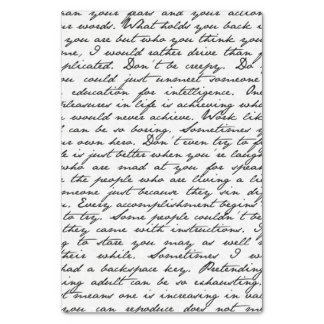 "Script Handwriting Tissue Paper 10"" X 15"" Tissue Paper"