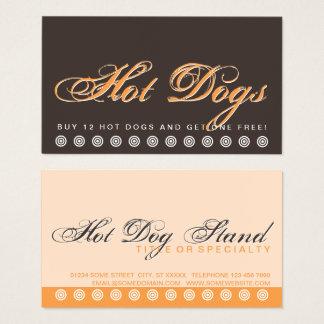 script HOT DOGS customer loyalty card