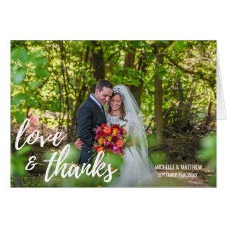 Script LOVE & THANKS wedding note card   PHOTO