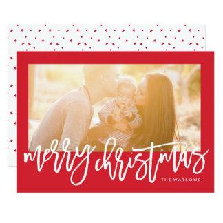 Script Merry Christmas Holidays Photo Card