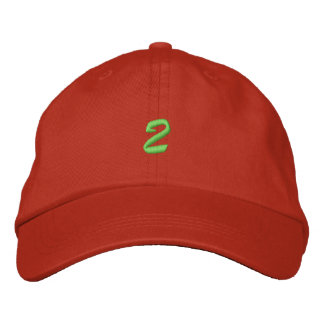 Script-Number 2 Embroidered Hats