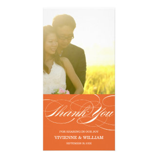 SCRIPT THANKS | WEDDING THANK YOU PHOTO CARD