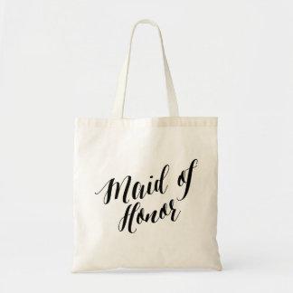 Script Tote | Maid of Honor Budget Tote Bag