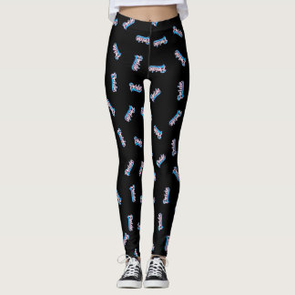 Script Transgender Pride Leggings
