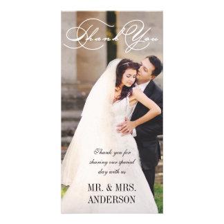 Script Wedding Thank You Card