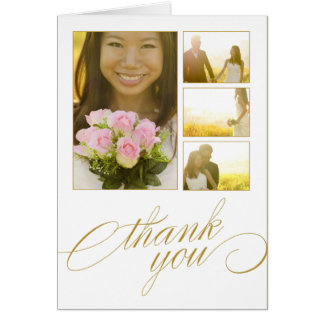 SCRIPTED COLLAGE   WEDDING THANK YOU CARD