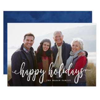 Scripted Holiday Photo Holiday Card