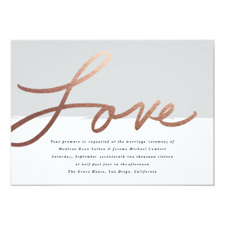 Typography Wedding Invitation Designs