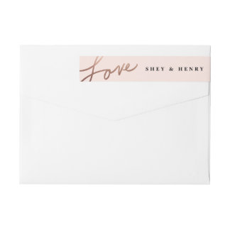 Scripted love wrap around return address label