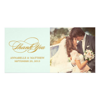 SCRIPTED   WEDDING THANK YOU PHOTO CARD