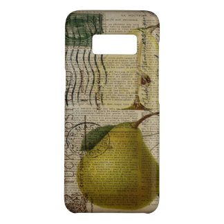scripts decorative vintage botanical art pear Case-Mate samsung galaxy s8 case