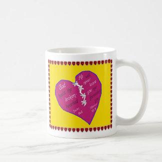 Scriptural Coffee Mug God heals the brokenhearted
