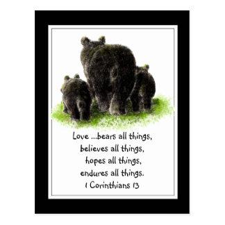 Scripture 1 Corinthians 13:4 Love is Postcard