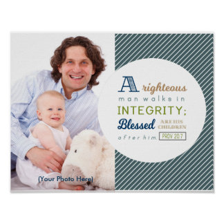 Scripture and Photo Father's Day Poster