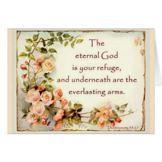 Scripture Bible Verse Floral  Roses Card