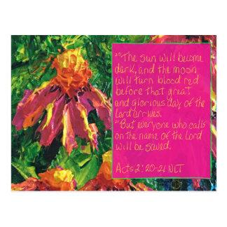 Scripture Card Acts 2:20-21 Postcard