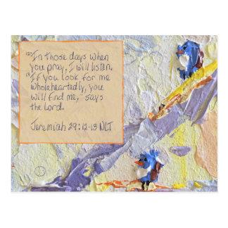Scripture Card Jeremiah 29:12-13 Postcard