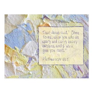 Scripture Card Matthew 11:28 Postcard