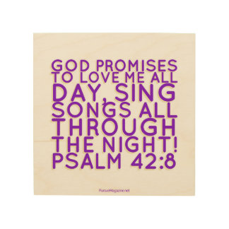 Scripture: Christian Wall Art, Psalm Wood Canvases