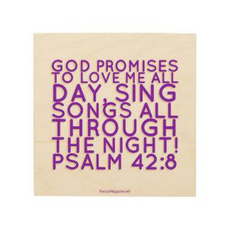 Scripture: Christian Wall Art, Psalm Wood Wall Art