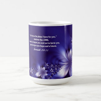 Scripture Coffee Mug with Purple Flowers