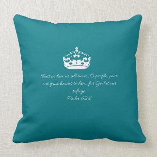 Scripture Cotton Throw Pillow