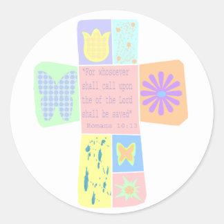 Scripture Cross stickers