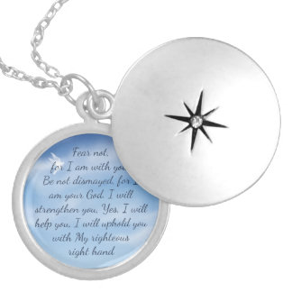 Scripture encouragement to Fear Not Fear not, Silver Plated Necklace