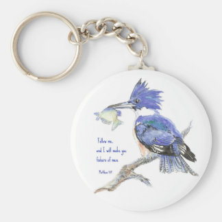 Scripture, Fishers of Men, Inspirational Basic Round Button Keychain