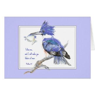 Scripture, Fishers of Men, Inspirational, Matthew Greeting Card