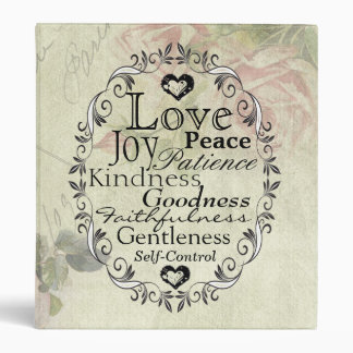Scripture Fruit of the Spirit Vintage Rose Binder