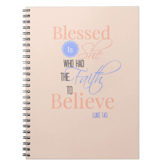 Scripture Journal Blessed is She Who had faith