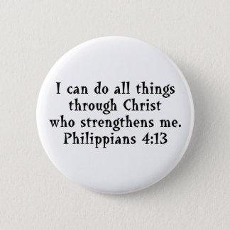 scripture Phil 4:13 2 Inch Round Button