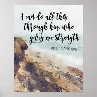 scripture quote bible quote Philippians Poster