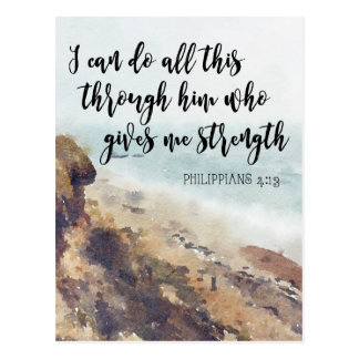 scripture quote notecard philippians postcard