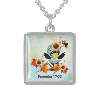 Scripture sterling silver necklace