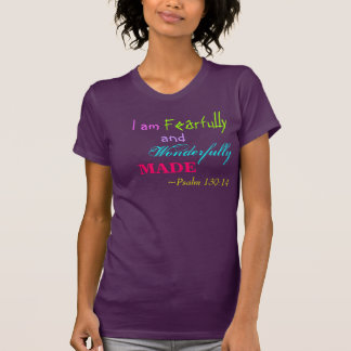 Scripture T-shirt Teen Confidence Bible Psalms
