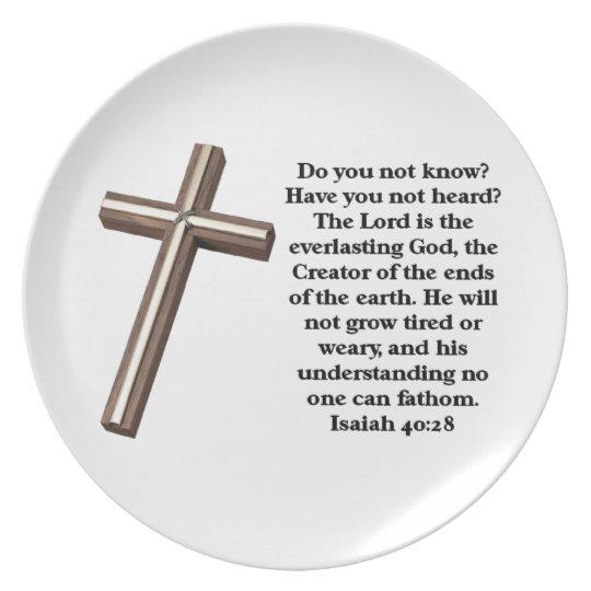 Scripture Verse Plate