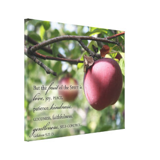 Scripture Wall Art Apple with Fruit of the Spirit