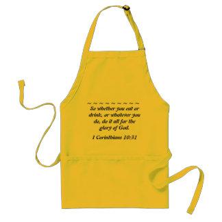 Scripture Yellow Apron