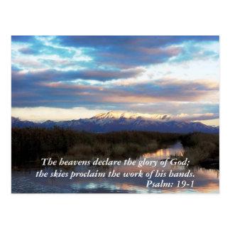 Scriptured Landscape Postcard